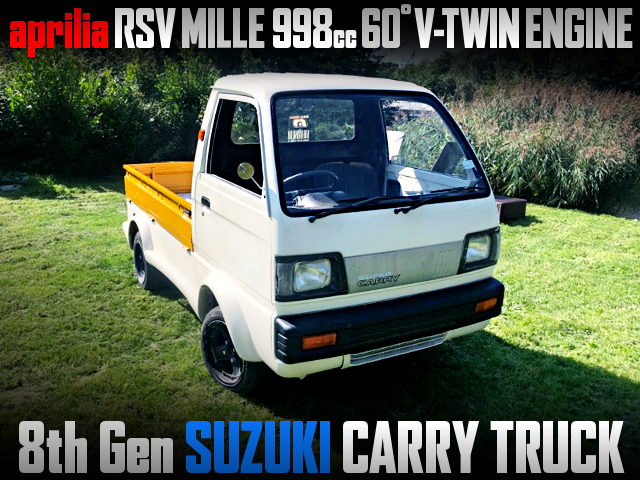 aprilia RSV MILLE 998cc V-TWIN ENGINE swap 8th Gen SUZUKI CARRY TRUCK.