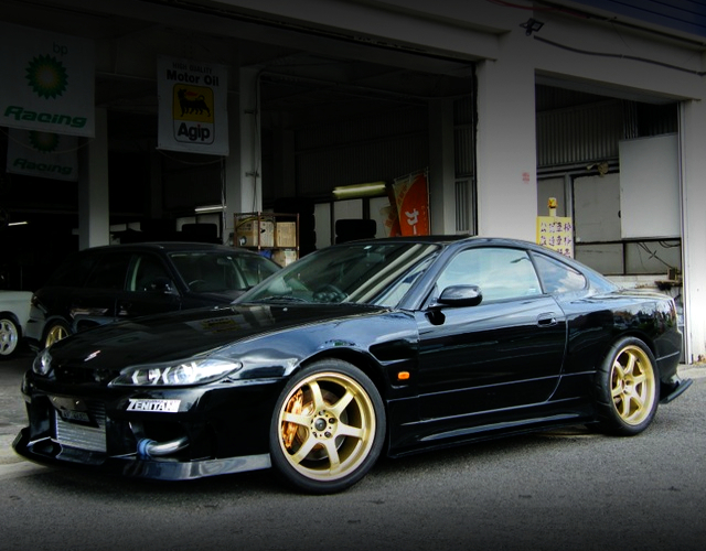 FRONT EXTERIOR OF S15 SILVIA WIDEBODY TO BLACK.