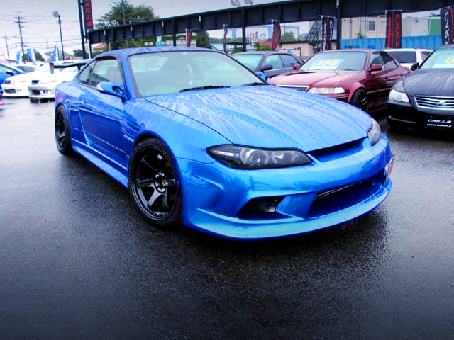 FRONT EXTERIOR OF S15 SILVIA WIDEBODY TO BAYSIDE BLUE.