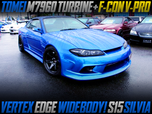 M7960 TURBO AND F-CON V-PRO INTO S15 SILVIA WITH VERTEX EDGE WIDEBODY.