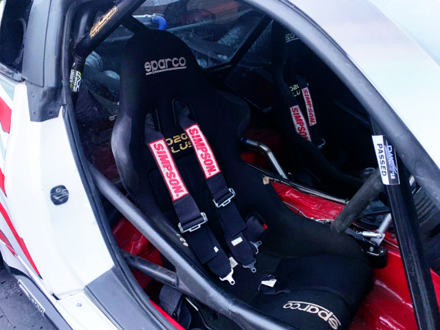 INTERIOR OF FULL BUCKET SEATS.