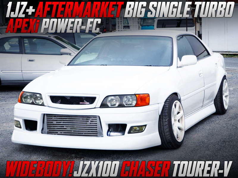 1JZ With AFTERMARKET TURBO And POWER-FC INTO JZX100 CHASER TOURER-V WIDEBODY.