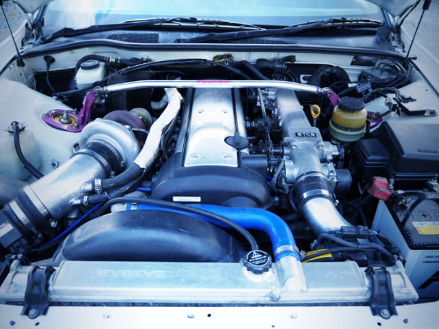 1JZ-GTE With BIG SINGLE TURBOCHARGER.