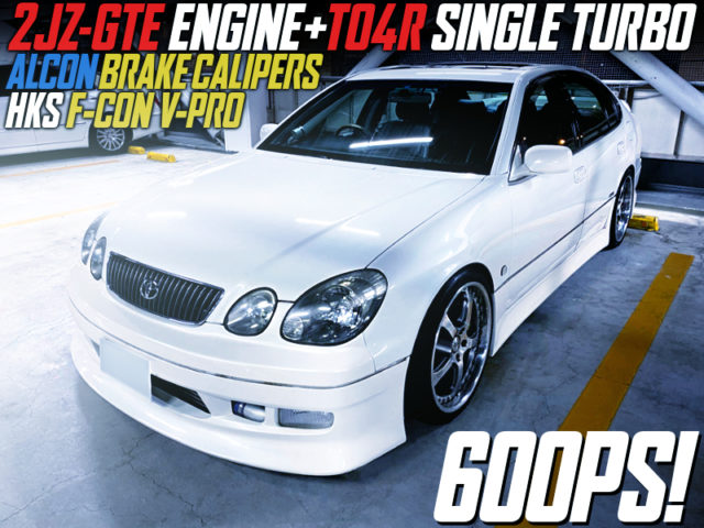 2JZ-GTE With TO4R SINGLE TURBO INTO JZS160 ARISTO.