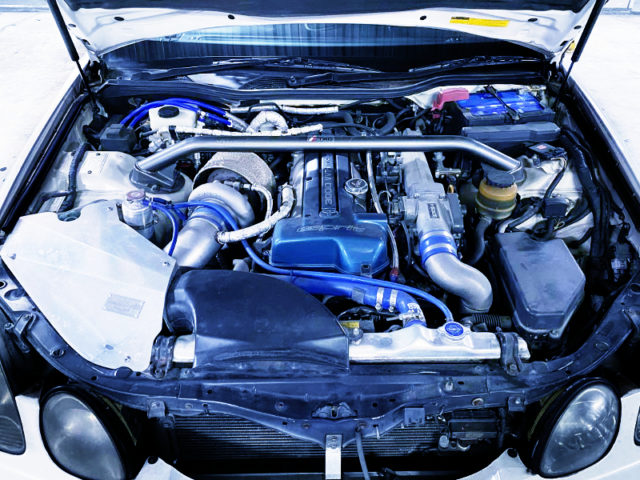 TO4R BIG SINGLE TURBO ONTO 2JZ-GTE ENGINE.