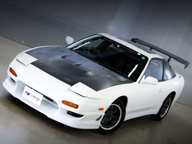 FRONT EXTERIOR OF 180SX TYPE-3 WHITE.