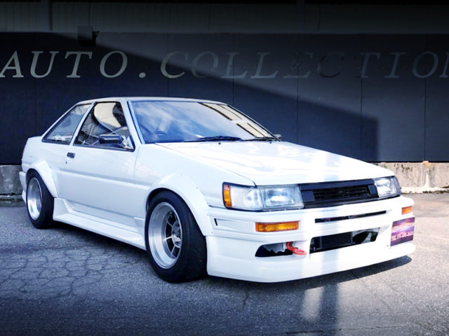 FRONT EXTERIOR OF AE86 LEVIN WIDEBODY And White.