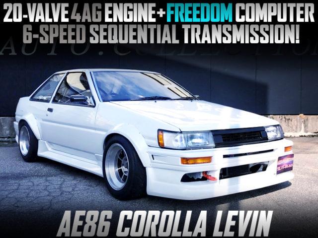 20V 4AG with 6-Speed SEQUENTIAL GEARBOX INTO AE86 LEVIN 2-DOOR.