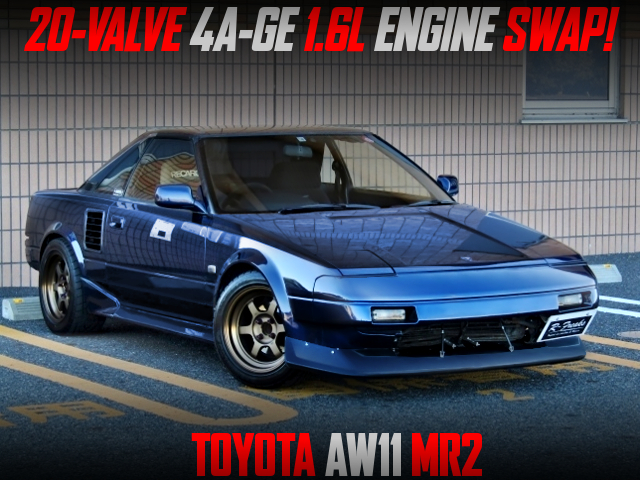 DIRECT COILS ON 20V 4AG SWAPPED AW11 MR2 BLUE-BLACK.