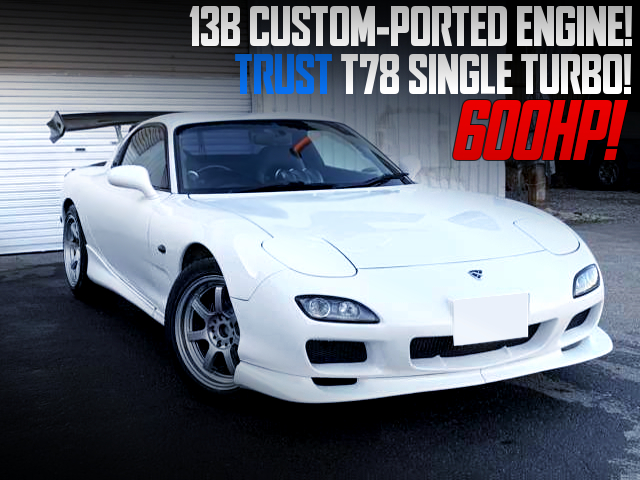 13B CUSTOM-PORTED ENGINE With T78 SINGLE TURBO INTO FD3S RX-7.