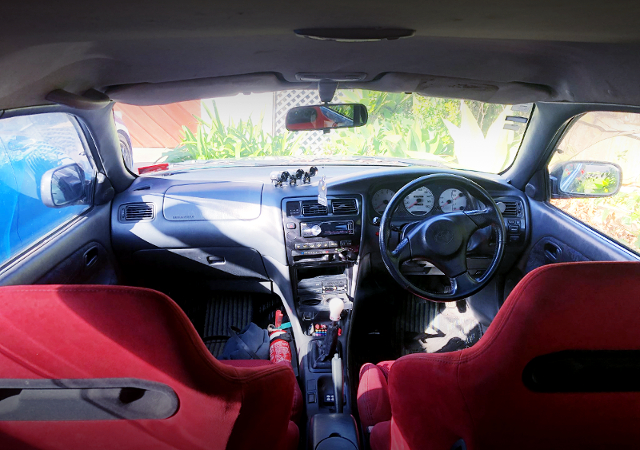 INTERIOR OF AE101G COROLLA TOURING WAGON BZ TOURING.