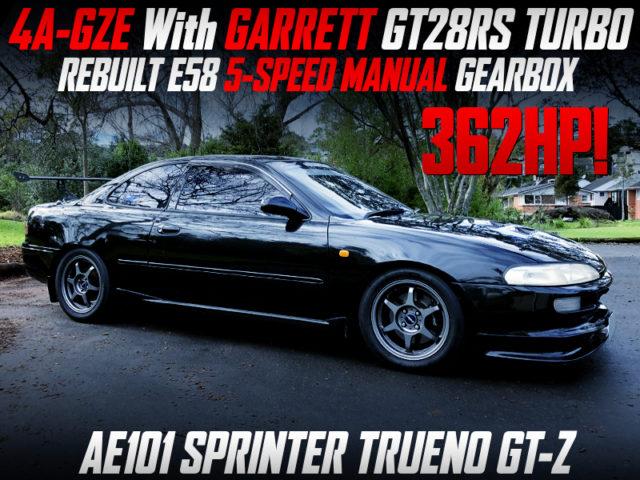 4AGEZ GT28RS TURBO INTO AE101 TRUENO GT-Z TO 362HP.