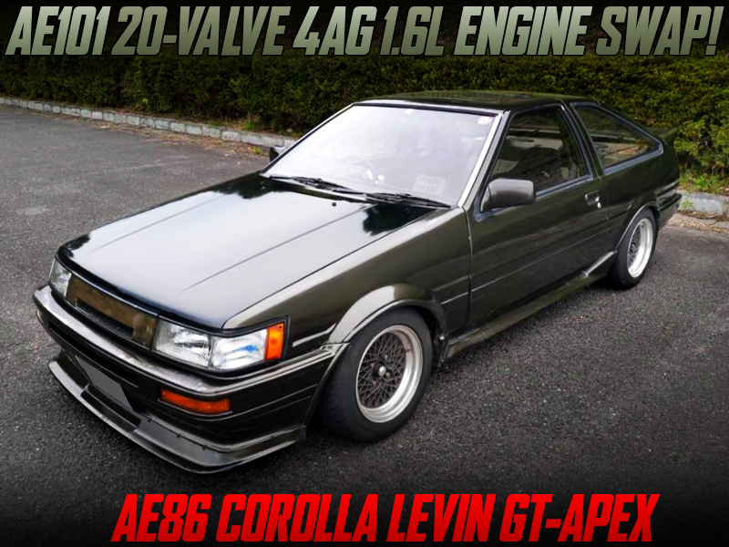AE101 20V 4AG SWAPPED AE86 LEVIN GT-APEX DARK GREEN.