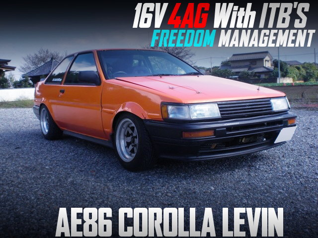16V 4AG with ITB's And Freedom ECU INTO AE86 COROLLA LEVIN.
