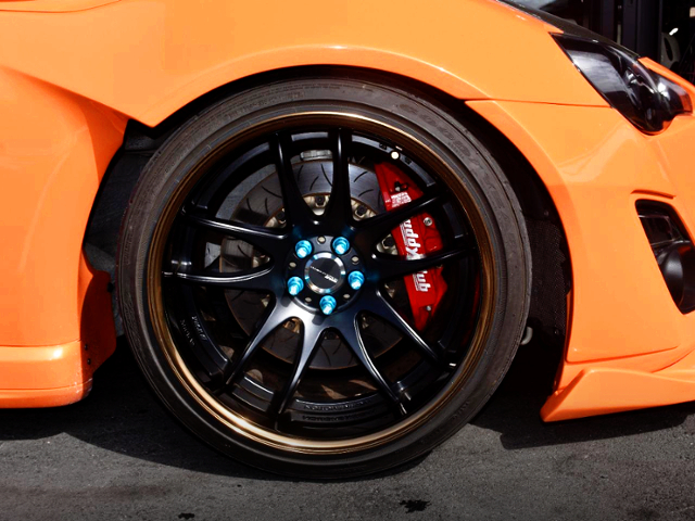 FRONT BUDDY CLUB BRAKE CALIPER.