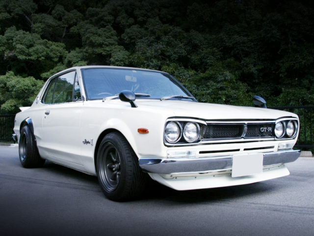 FRONT EXTERIOR OF C10 HAKOSUKA 2HT TO GT-R LOOK.