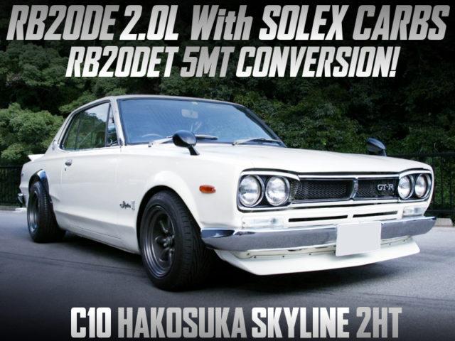 RB20DE with SOLEX CARBS and RB20DET 5MT INTO C10 HAKOSUKA 2HT.