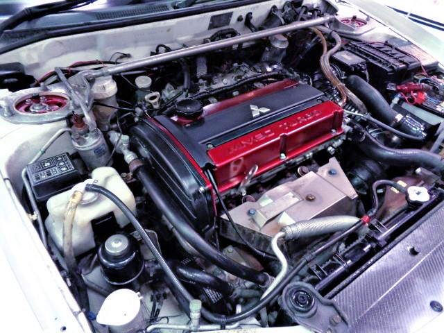 MIVEC 4G63 TURBO ENGINE.