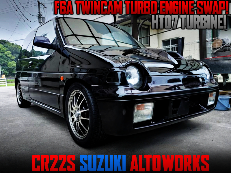 F6A TWINCAM TURBO SWAP WITH HT07 TURBO INTO CR22S ALTO WORKS.