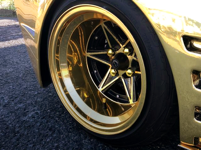 EIGHT-SIX ALUM WHEEL TO GOLD VERSION.