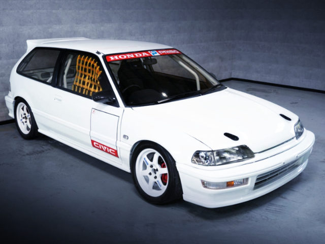 FRONT EXTERIOR OF EF9 CIVIC SiR2 TO KANJOZOKU STYLE.