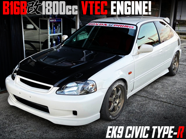 B16B 1800cc VTEC ENGINE INTO EK9 CIVIC TYPE-R.