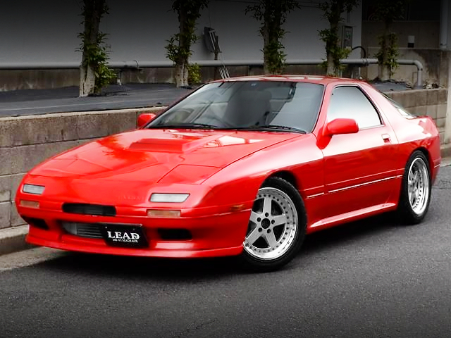 FRONT EXTERIOR OF FC3S SAVANNA RX-7 GT-X TO RED COLOR.