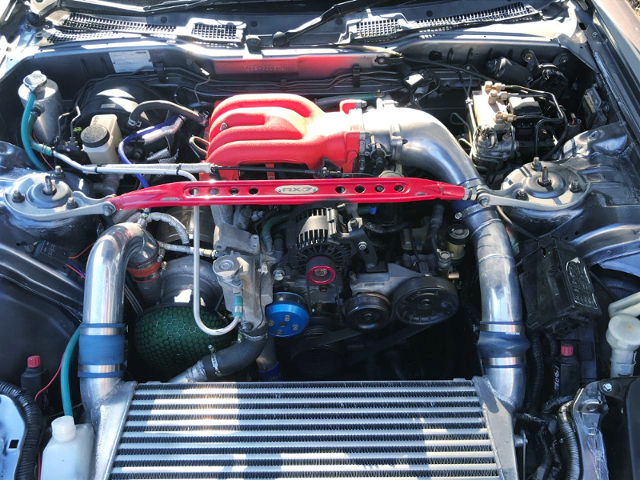 REBUILT 13B-REW With V-MOUNT IC AND LARGE SINGLE TURBO.