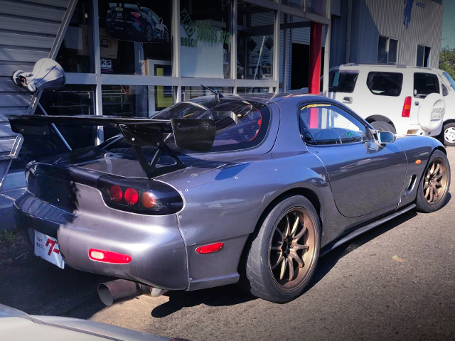 REAR EXTERIOR OF FD3S RX-7 TYPE-R TO SILVER.