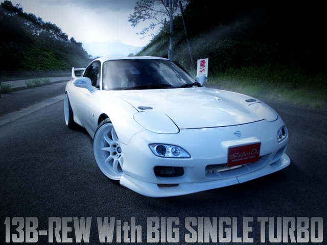 13B-REW With SINGLE TURBO INTO FD3S RX-7.