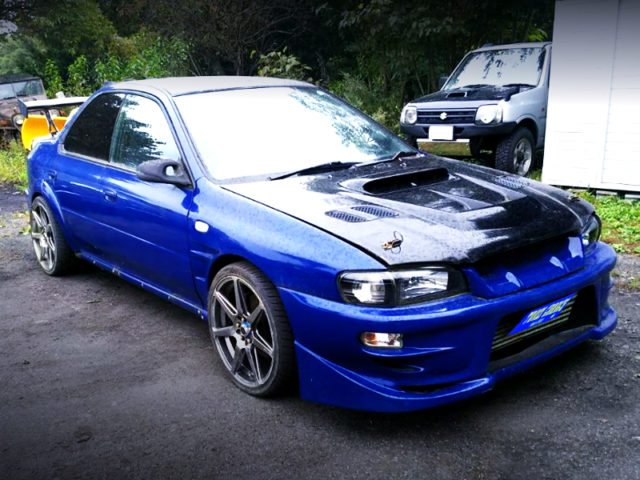 FRONT EXTERIOR OF GC8 IMPREZA WRX V-LIMITED.
