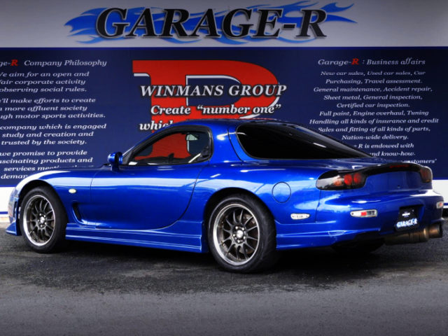REAR EXTERIOR OF FD3S RX-7 TYPE-RS TO BLUE.