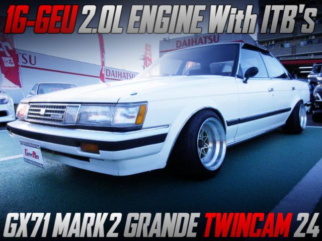 ITB'S ON 1G-GEU ENGINE INTO GX71 MARK2 GRANDE TWINCAM 24.