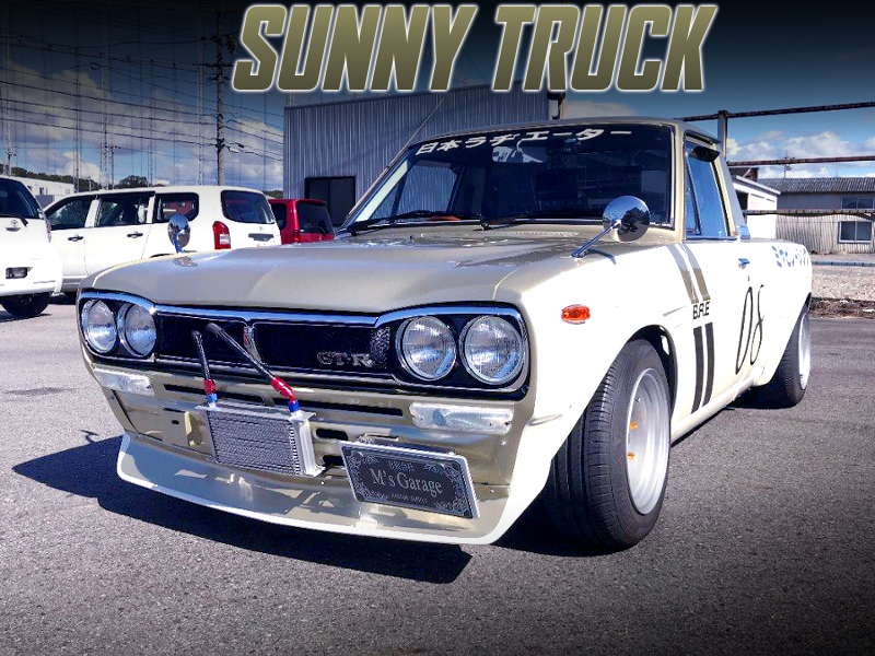 HAKOSUKA FRONT END AND BRE LIVERY OF SUNNY TRUCK.