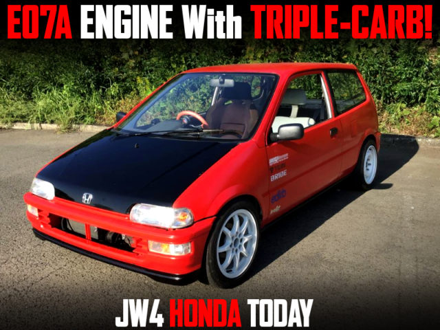 E07A With TRIPLE-CARB INTO JW4 HONDA TODAY.
