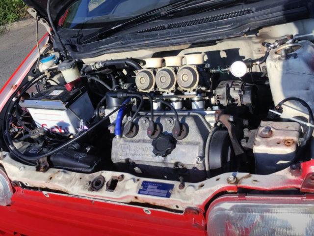 TRIPLE CARB ON E07A ENGINE.