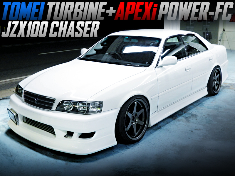 TOMEI TURBINE AND POWER-FC INTO JZX100 CHASER PEARL WHITE.