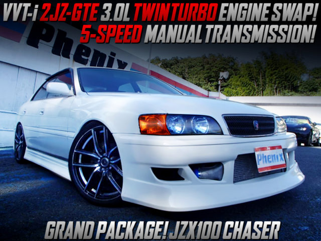 2JZ-GTE TWINTURBO And 5MT SWAPPED JZX100 CHASER PEARL WHITE..
