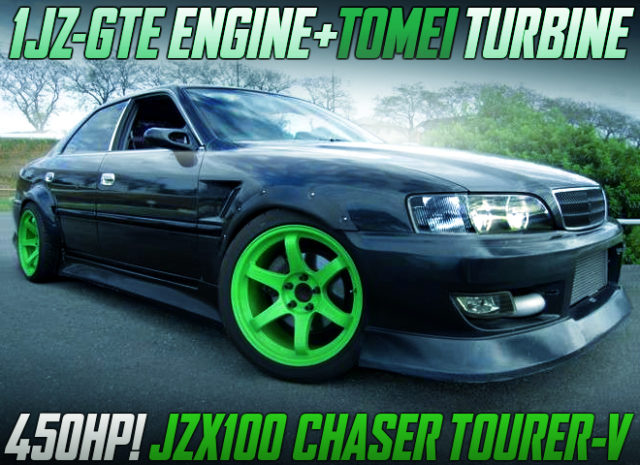 1JZ With TOMEI TURBINE AND POWER-FC INTO JZX100 CHASER.