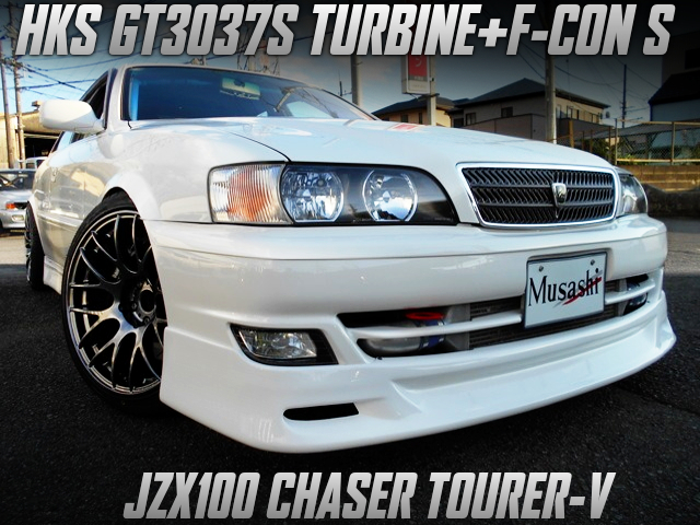 GT3037S TURBO AND F-CON S INTO JZX100 CHASER TOURER-V.
