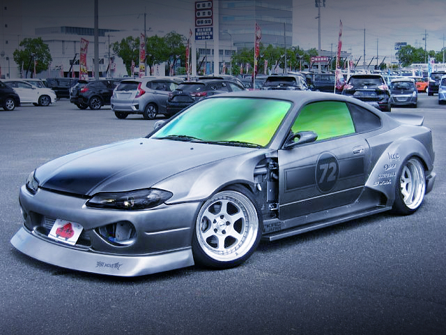 FRONT EXTERIOR OF S15 SILVIA With KRC WIDEBODY KIT.