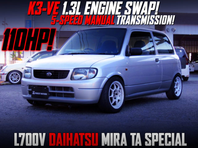 K3-VE2 1300cc ENGINE And 5MT INTO L700V MIRA TA SPECIAL.