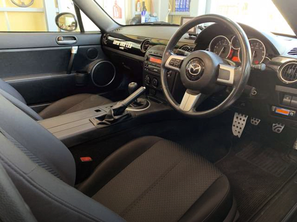 INTERIOR DASHBOARD OF NCEC ROADSTER RS.