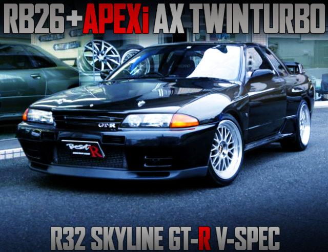 APEXi AX TWIN TURBOCHARGED R32 GT-R V-SPEC TO BLACK.
