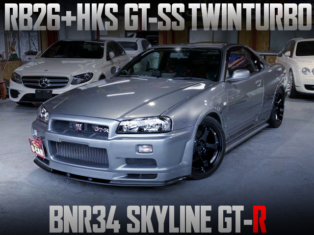 HKS GT-SS TWINTURBO ON RB26 INTO R34 GT-R.