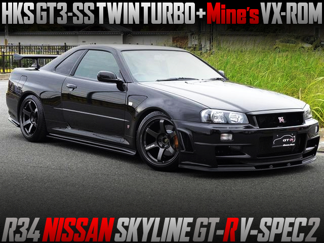 GT3-SS TWINTURBO And MINES VX-ROM ECU INTO R34 GT-R V-SPEC2.