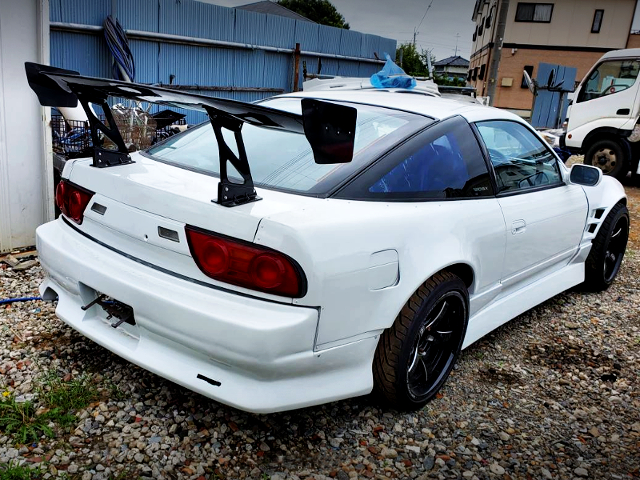 REAR EXTERIOR OF 180SX WIDEBODY.