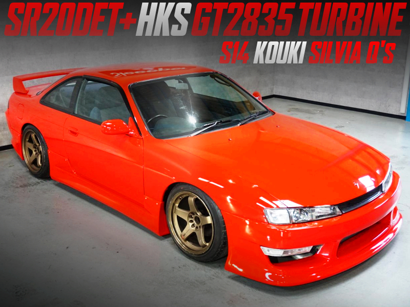 SR20DET With GT2835 TURBO INTO FACELIFT MODEL S14 SILVIA Qs.