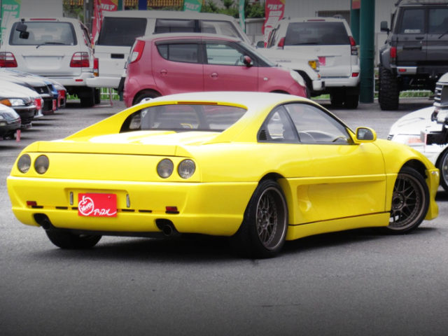 REAR EXTERIOR OF SW20 MR2 GT-S TO FERRARI STYLE WIDEBODY.