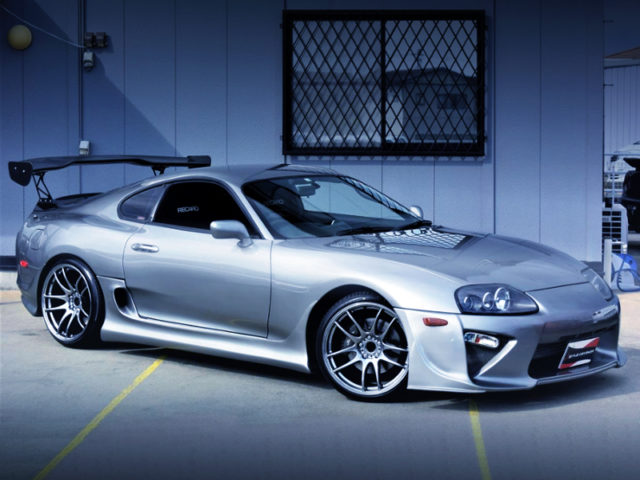 FRONT EXTERIOR OF JZA80 SUPRA RZ-S TO SILVER.